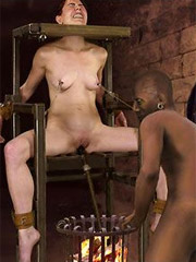 Cruel emir enjoys his defenseless western slaves in harem!