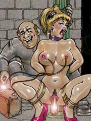 Adorable blonde slave babe forced to please her mistress stinky snatch. tags: naked girl, sexy boobs, bdm art, face dildo.